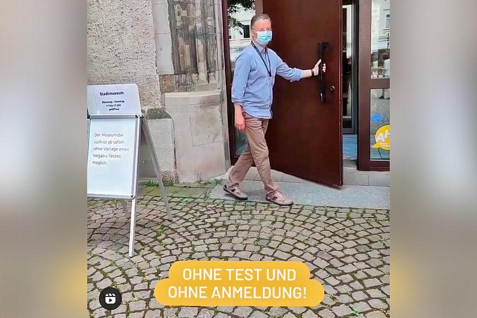 Hereinspaziert: So präsentiert sich das Stadtmuseum jetzt auf Instagram.