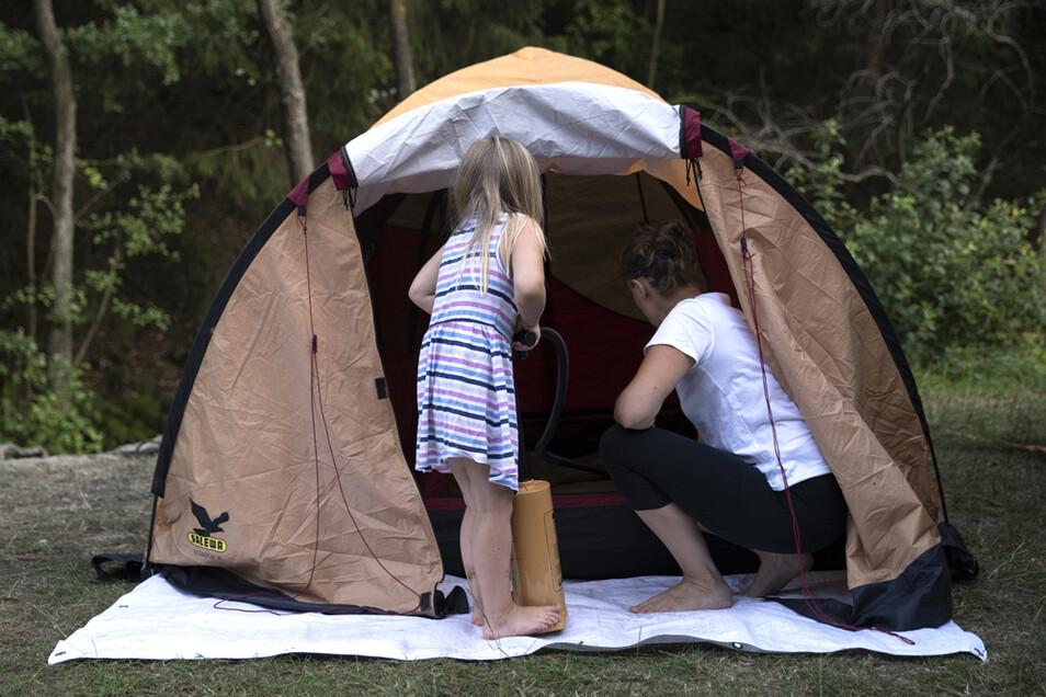 In Corona-Zeiten ist das Zelten wieder modern geworden.