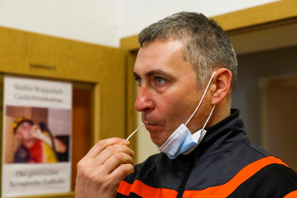 Auch der Vorsitzende des Bertsdorfer Sportvereins, Frank Bräuer, hat bei der Typisierungsaktion für Stammzell- beziehungsweise Knochenmarkspender mitgemacht.