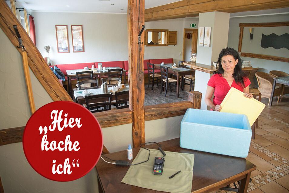 Katharina Sonntag bietet im gleichnamigen Restaurant in Niesky einen Abholservice für selbst gewählte Speisen an. Am Sonntag und zu Feiertagen kann dieser genutzt werden.