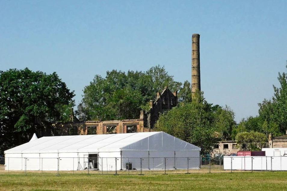 Da, wo das Zelt für die Preisverleihung war, soll das Bafa-Gebäude stehen.