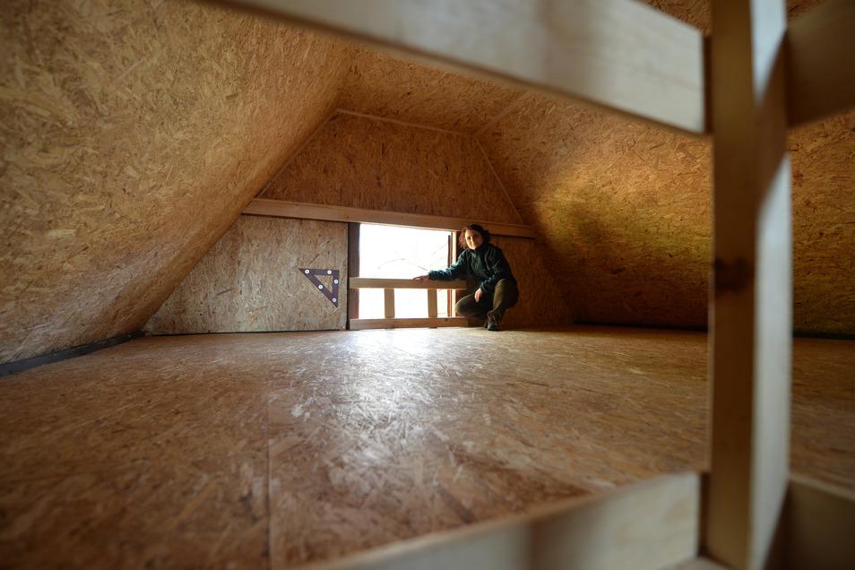 Zu eng in Zeiten von Corona: Die Haselmausbaude bei Cunnersdorf hat einen Schlafboden für bis zu acht Personen.