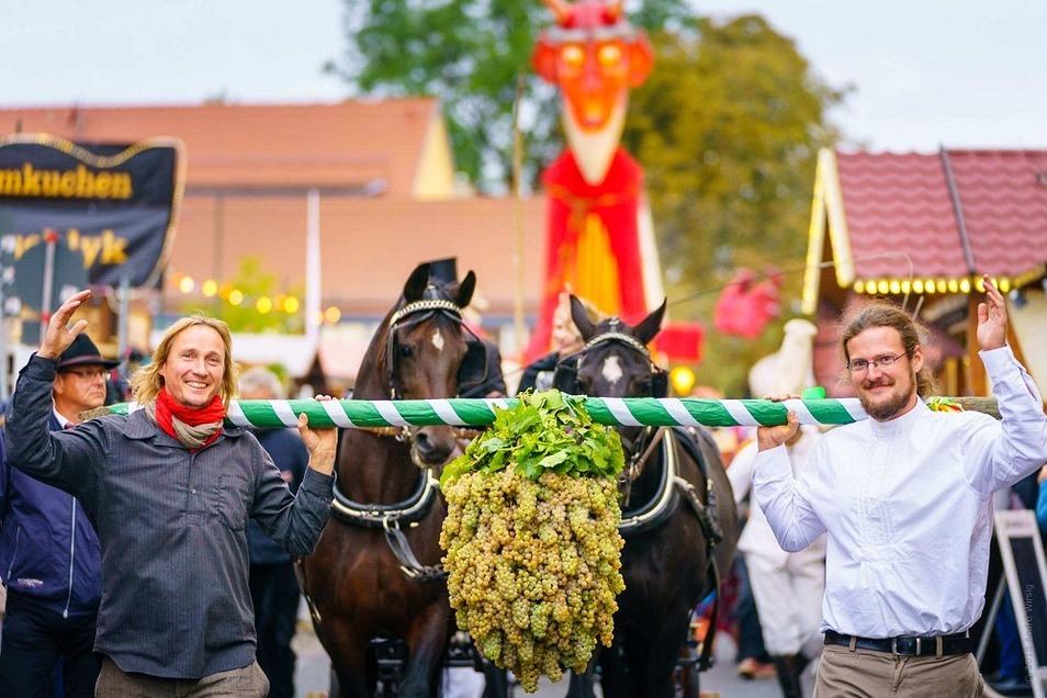 Radebeul lädt zum Weinfest nach Altkötzschenbroda.