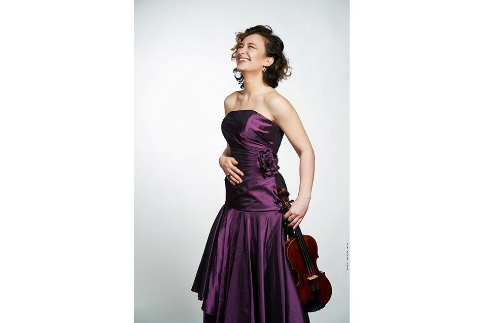 Solistin Sofija Radić (Violine).