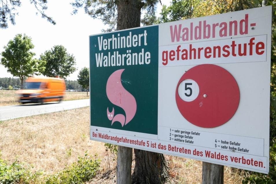 In einigen Teilen des Kreises Bautzen gilt die Gefahrenstufe fünf.