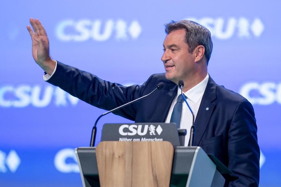 Markus Söder, CSU-Parteivorsitzender und Ministerpräsident von Bayern, hat vehement vor einem Linksruck in Deutschland gewarnt.