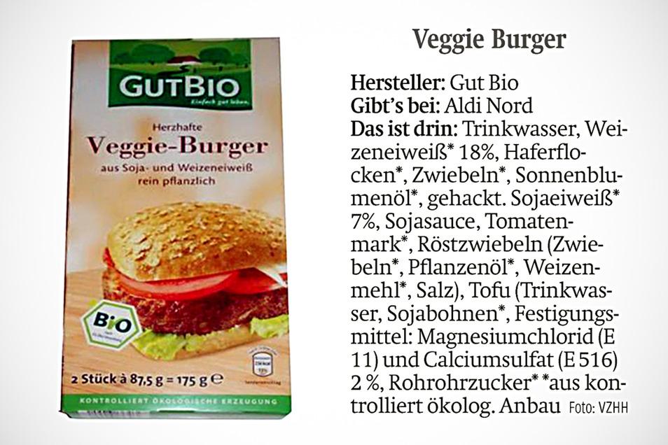 Einen Veggie-Burger gibt es auch bei Aldi.