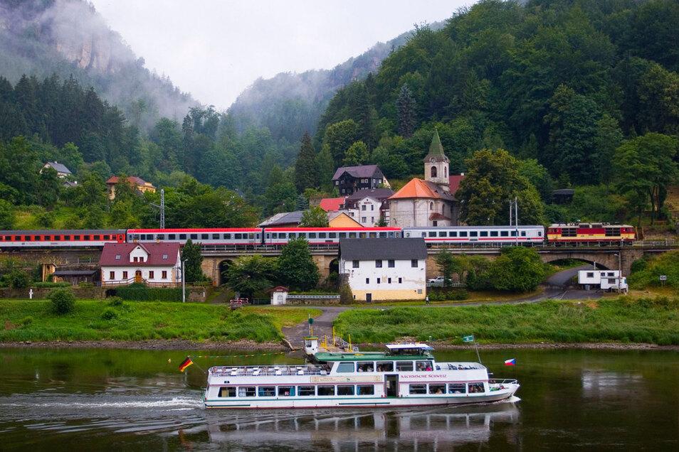 Die Elbtalstrecke der Bahn soll mit der neuen Trasse entlastet werden. Aber nicht auf Kosten Von Mensch und Natur an anderer Stelle.