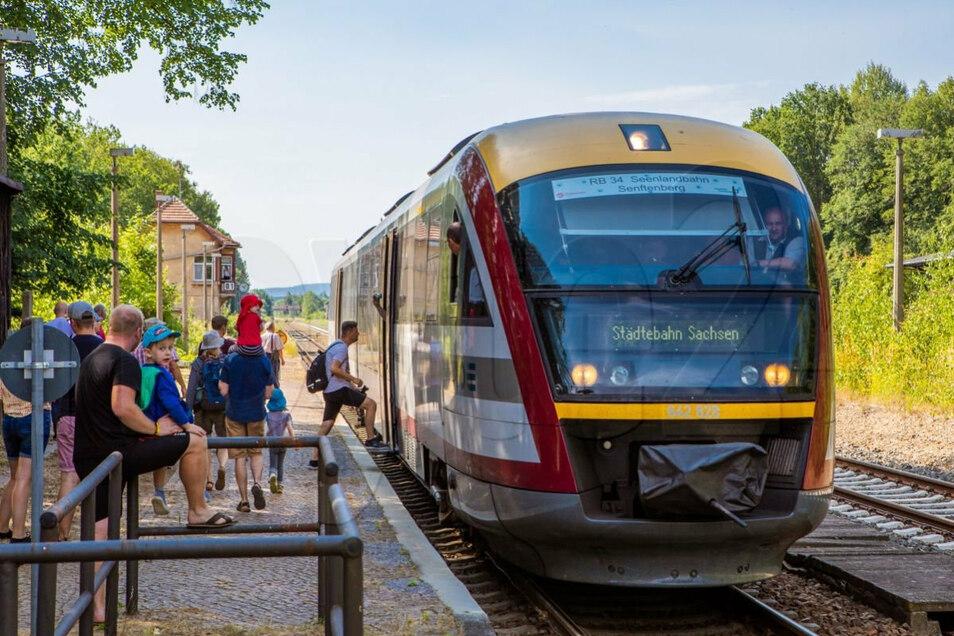 Im vergangenen Jahr startete die Seenlandbahn zwischen Dresden und Senftenberg in eine zweijährige Testphase. Ob es im kommenden Jahr weitergeht, muss nun diskutiert werden.