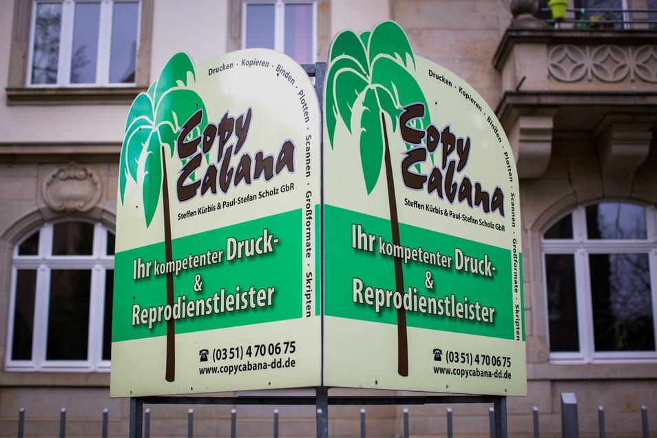 Umstrittener-Copy-Shop: Das Copy Caban auf der Dresdner Helmholtzstraße.