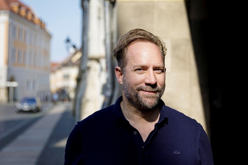 Michael Simon de Normier auf dem Görlitzer Untermarkt.