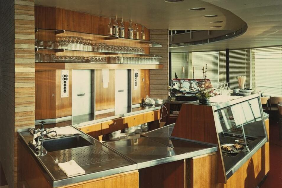 Die einstige Einrichtung des Restaurants.