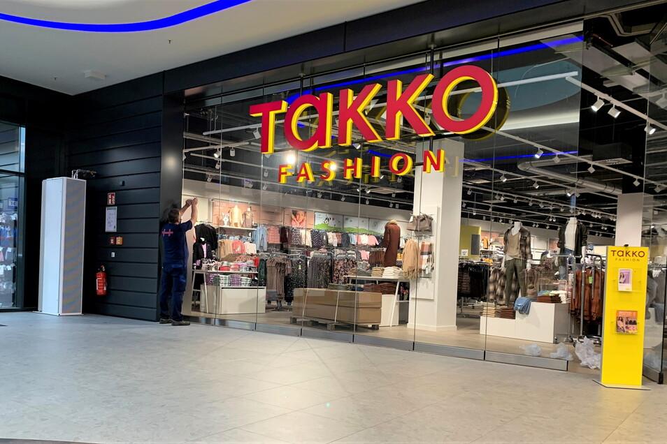 Neue Takko-Filiale im Pirnaer Scheunenhofcenter: Sämtliche Einzelhandelsflächen sind nun belegt.