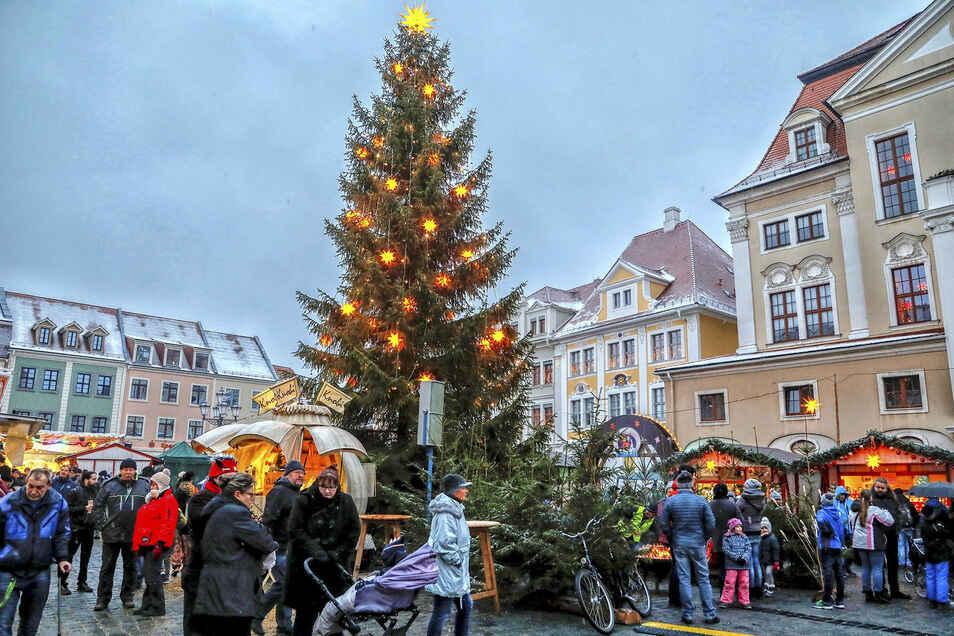 Dieses Bild wird's in diesem Jahr so nicht geben. Nur ein Baum soll den Altmarkt wieder schmücken.