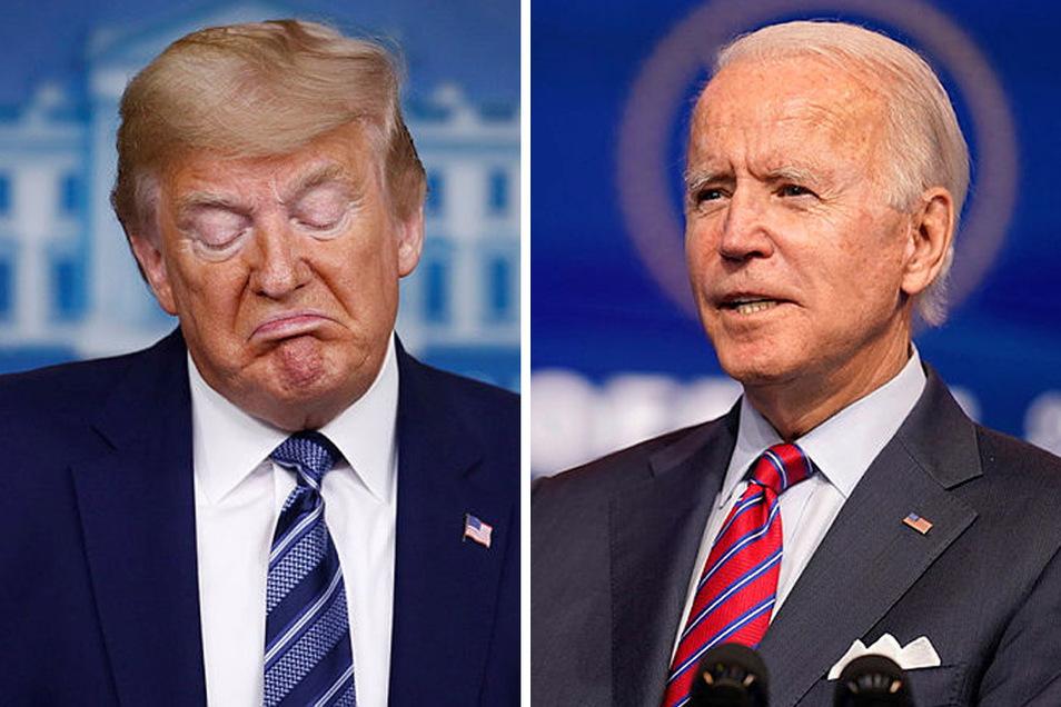 Noch-Präsident Donald Trump und der gewählte neue Joe Biden.