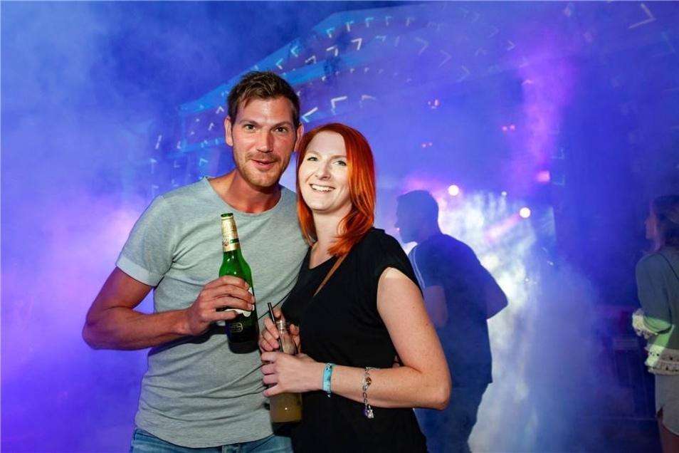 Mandy Zeiger und Thomas Bergmann sind aus Naumburg angereist.