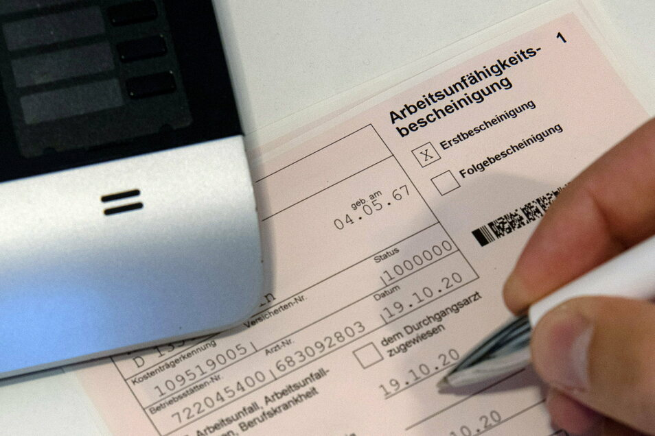 In Sachsen wurden 2020 weniger Krankschreibungen ausgestellt.