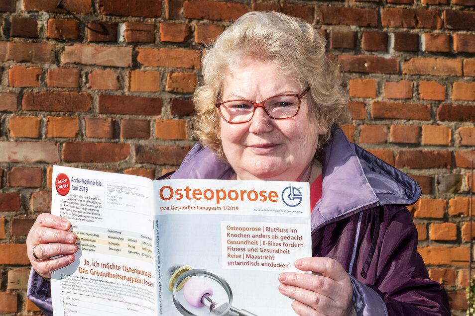 Die Meinsbergerin Sabine Schwatlo leitet seit zehn Jahren die Waldheimer Osteoporosegruppe. Die Mitglieder müssen derzeit wegen des Coronavirus auf Treffen genauso verzichten, wie auf die regelmäßigen gemeinsamen Gymnastikstunden.