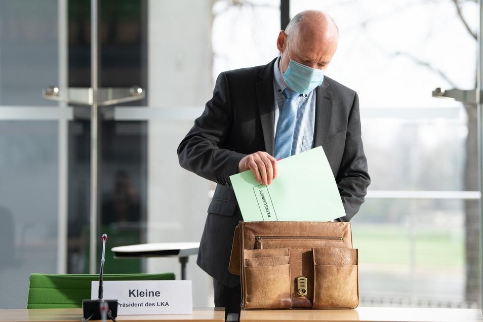 Die Tage von Petric Kleine als Präsident des sächsischen Landeskriminalamtes sind gezählt.