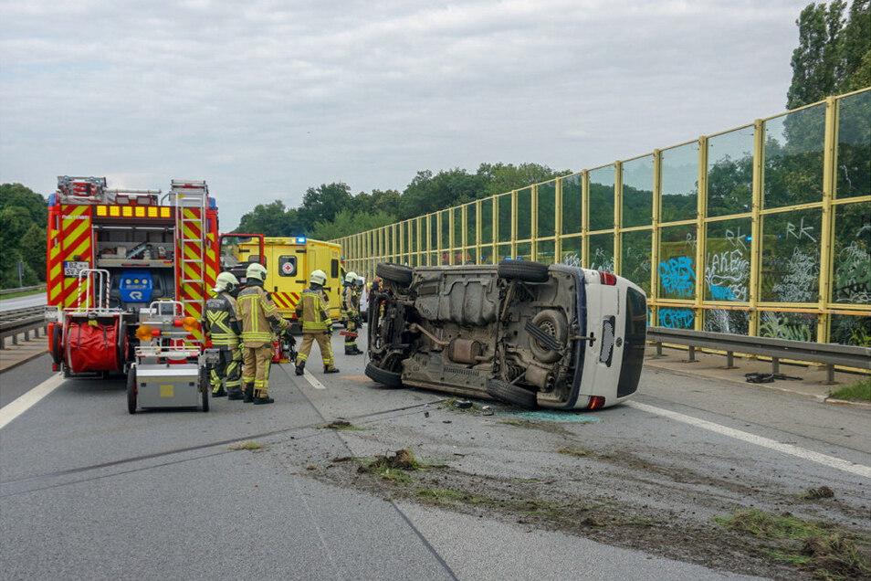 Auf der A4 nahe der Anschlussstelle Bautzen-West gab es am Dienstagabend einen Unfall.