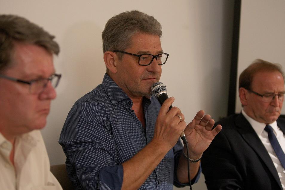Drei Bürgermeister, die getrieft haben: Jürgen Opitz, Klaus-Peter Hanke und Ralf Müller (v.r.).