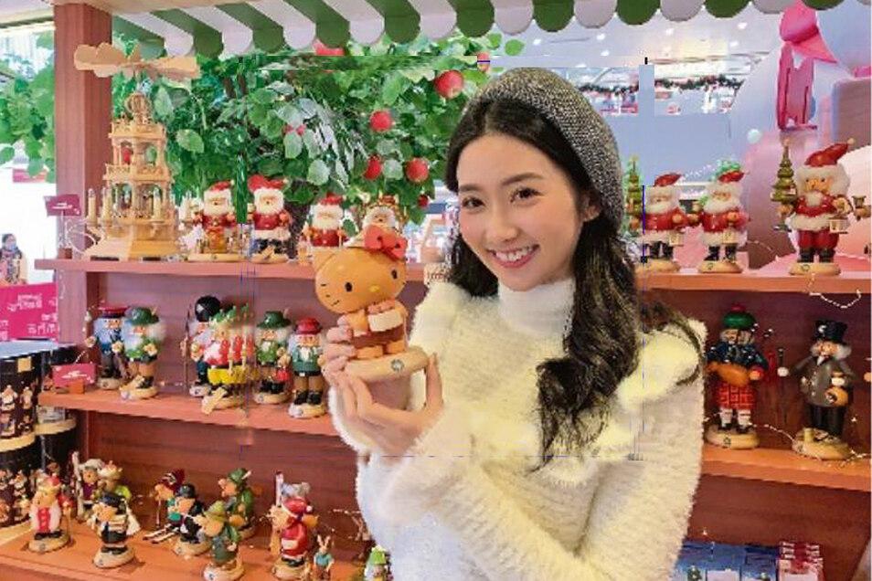 Erzgebirge grüßt Hongkong: Hello Kitty einmal anders.