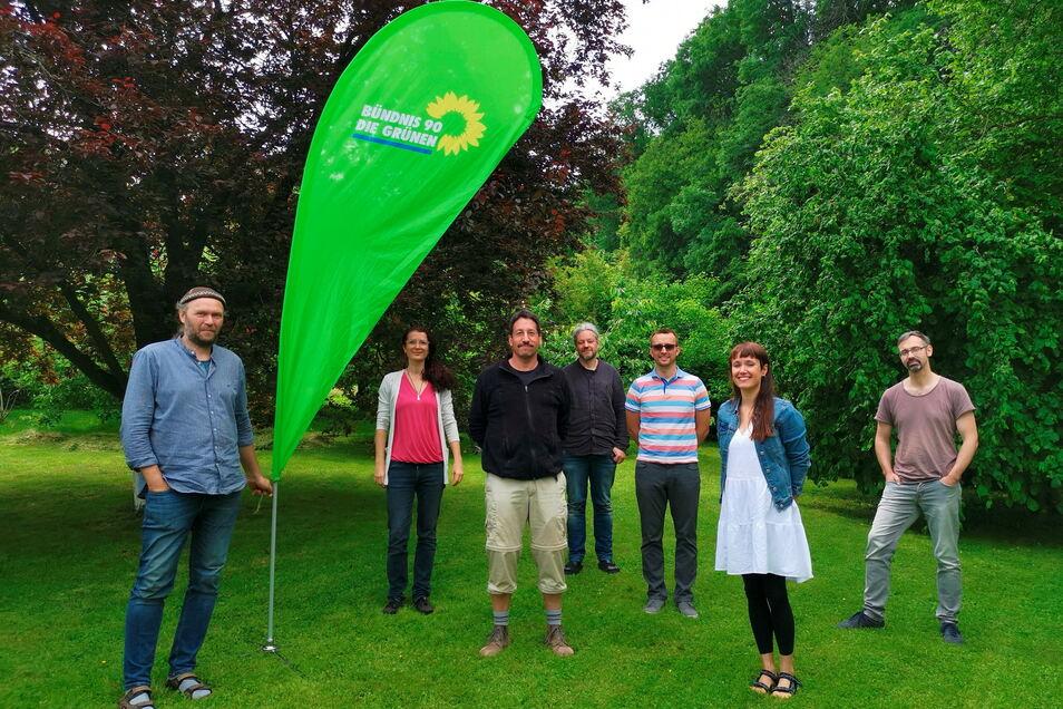 Die Grünen haben in Nossen einen neuen Ortsverband gegründet. Sprecher ist Carsten Neumeister (2.v.l.).