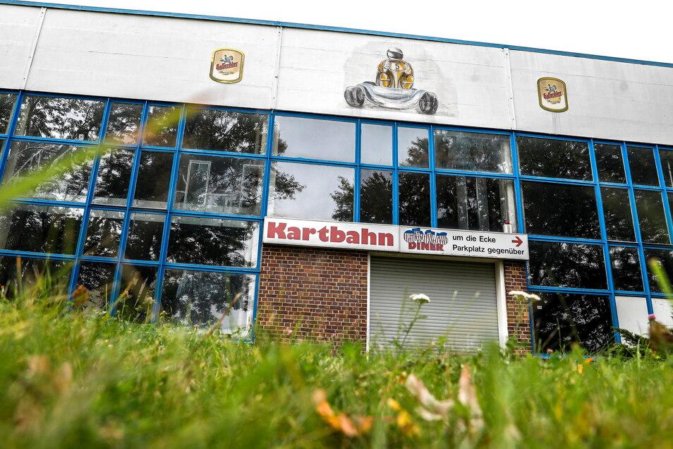 Die Kartbahn an der Dietrich-Bonhoeffer-Straße in Löbau ist seit einigen Tagen geschlossen.