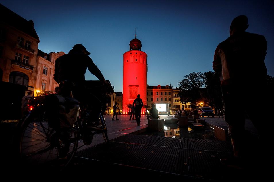 So wie bei der Night of Lights im Juni vergangenen Jahres erstrahlt der Dicke Turm am Marienplatz auch nicht alle Tage.
