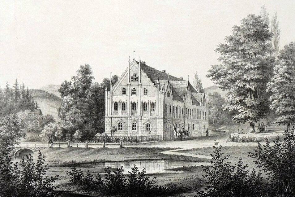 In die historische Ansicht des Oppacher Schlosses verliebte sich der neue Besitzer. Er will die alte Optik so gut wie möglich wieder herstellen.