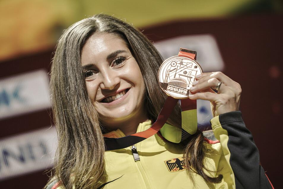 Gesa Felicitas Krause gewann bei der WM 2019 in Katar die Bronzemedaille über 3.000 Meter Hindernis.