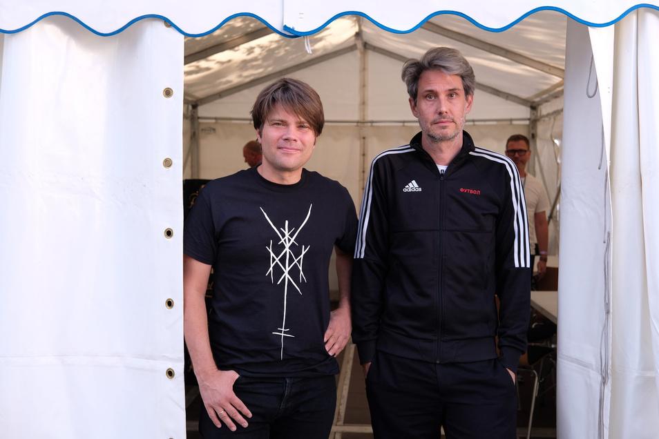 Jan Müller und Dirk von Lotzow von der Band Tocotronic.