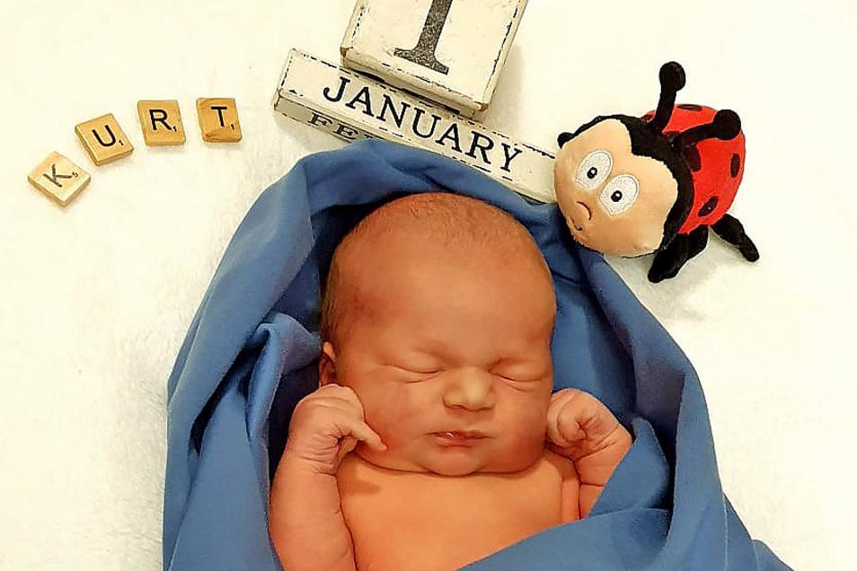 Der kleine Kurt ist am 1. Januar 2021 im Kamenzer Krankenhaus geboren worden.