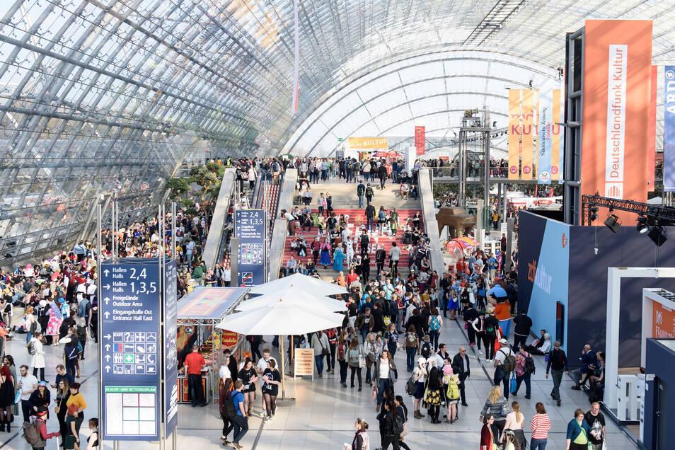 Die Leipziger Buchmesse im Frühjahr 2019.