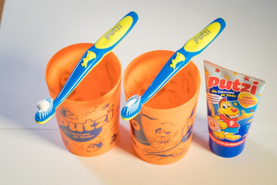 """Das bekannteste Produkt der Firma: Die """"Putzi""""-Zahnpasta für Kinder."""