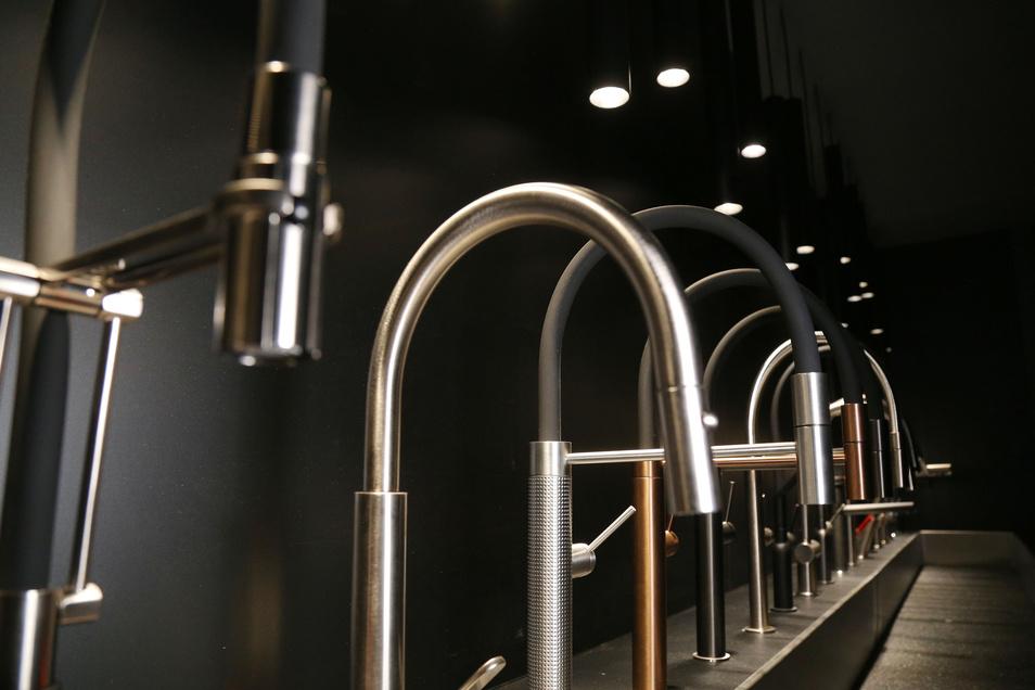 Edles Design bei höchster Funktionalität: Wer das Besondere schätzt, wird im Küchenzentrum Dresden auch bei den Armaturen von Gessi fündig.