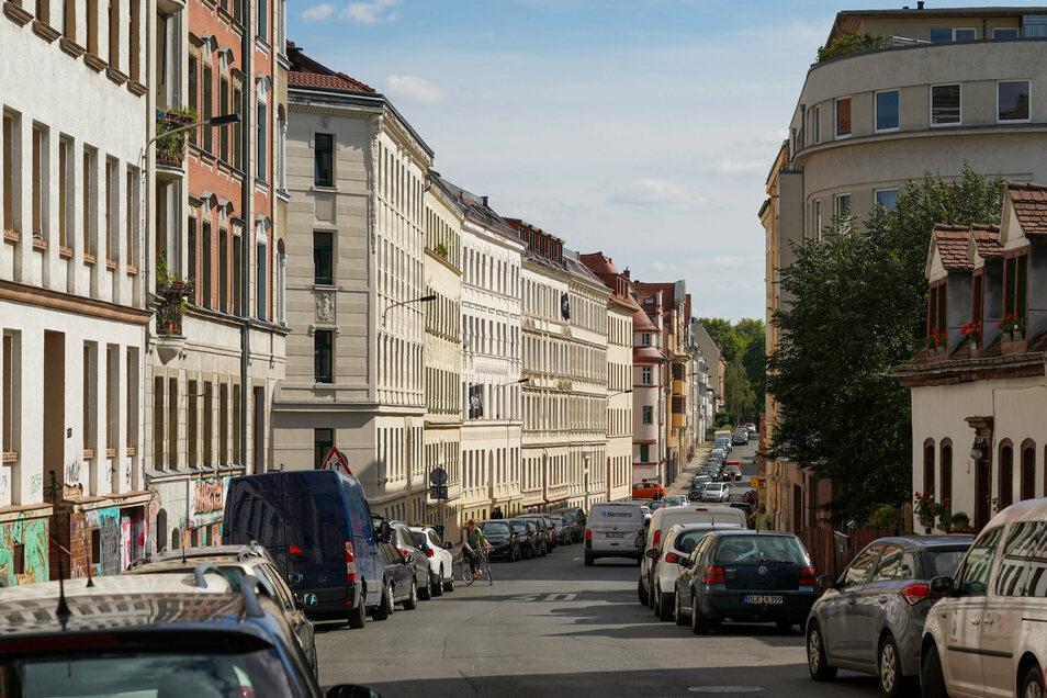 Ein Straßenzug im Stadtteil Connewitz von Leipzig.