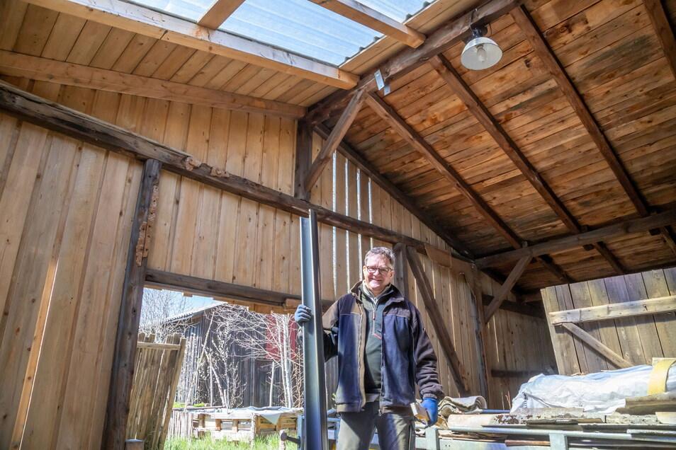 Auch für die alten Werkhallen hat René Bath Pläne. Hier könnten zum Beispiel ein Landwarenhaus für einheimische Produkte und Platz für eine gemütliche Bierrunde entstehen.