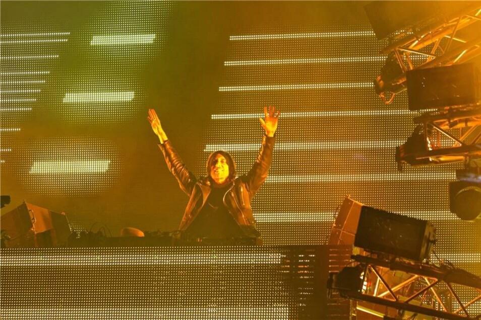 David Guetta war der Star der Freitagnacht.