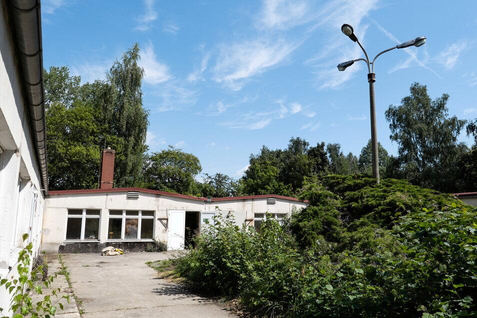 Hier findet das Festival Zukunftsvisionen dieses Jahr statt: Auf der Friedrich-Engels-Straße 54, ganz in der Nähe des Bahnhofs Weinhübel. Das Gebäude wurde 1974 als Polytechnische Bildungseinrichtung gebaut.