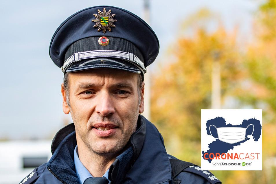 Thomas Geithner, Sprecher der Dresdner Polizei, ist zu Gast im CoronaCast.