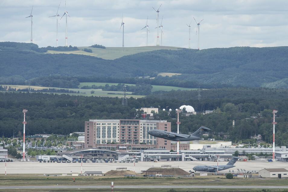 Blick auf die US-Airbase im rheinland-pfälzischen Ramstein.