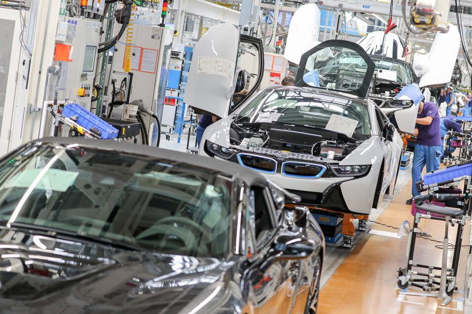 Im BMW-Werk Leipzig passiert derzeit nicht allzu viel.