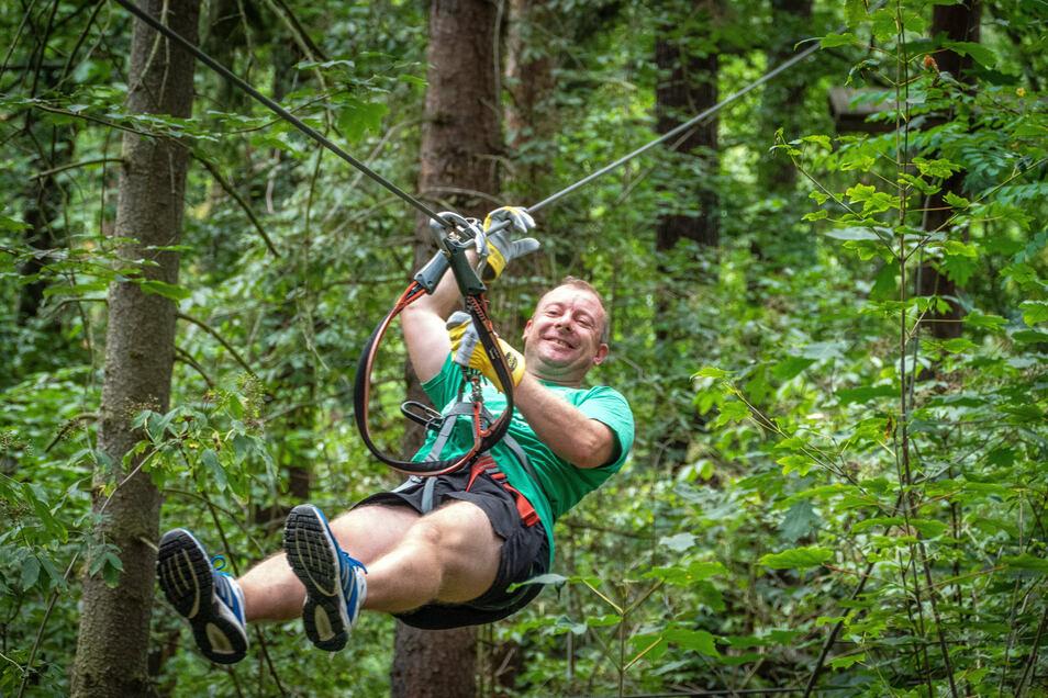 Im Kletterwald Kriebstein können Besucher insgesamt 95 Kletterelementen in sieben verschiedenen Parcours ausprobieren. Da ist für jeden etwas dabei.