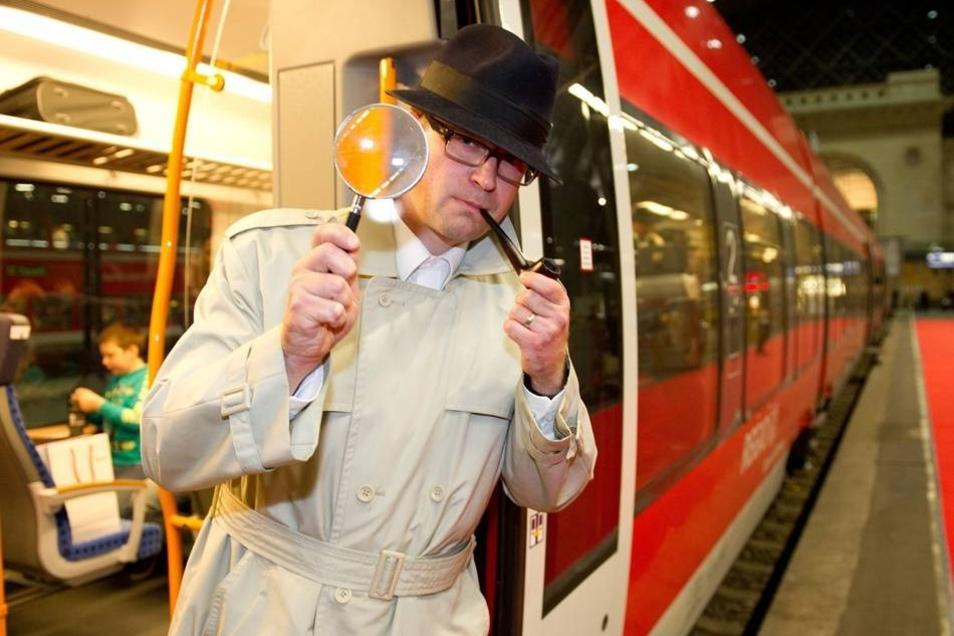 """Sowohl auf dem Weg in die Messestadt als auch auf dem Rückweg nach Dresden wurde """"Mord im Saxonia-Express"""" gegeben."""