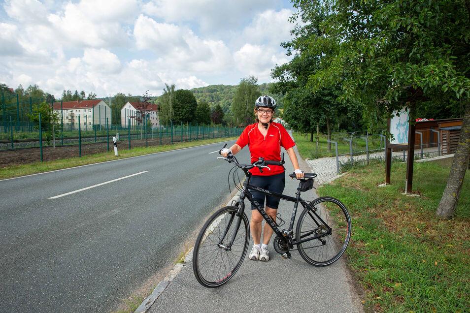 Die Mühlbacherin Bärbel Lehmann möchte das Müglitztal für Radfahrer noch populärer machen.