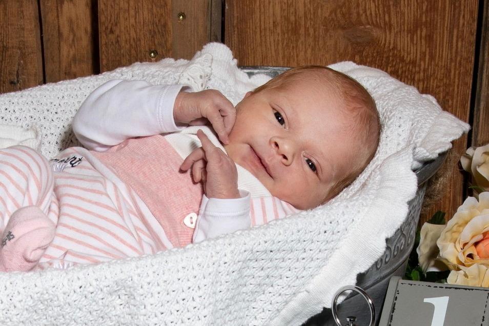 Anni, geboren am 10. April, Geburtsort: Dresden, Gewicht: 4.030 Gramm, Größe: 51 Zentimeter, Eltern: Carolin Knothe und Marcel Tischer, Wohnort: Hauswalde