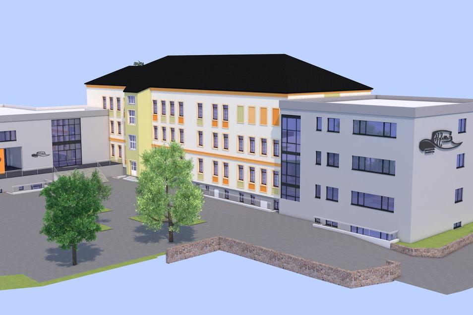 die Erweiterung der Heinrich-Zille-Oberschule ist im neuen Radeburger Doppelhaushalt die größte Einzelinvestition.