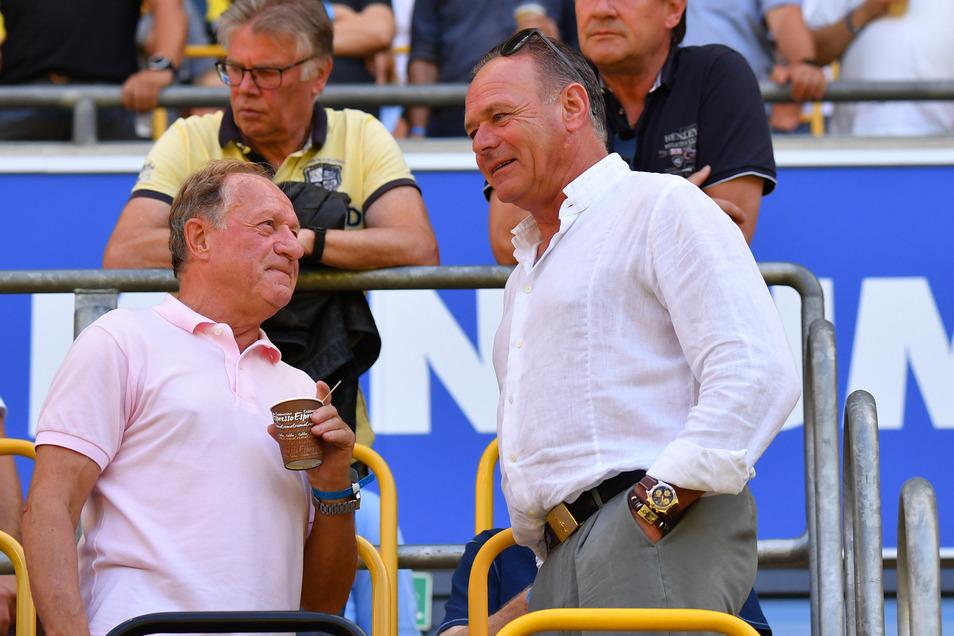 Hartmut Schade (rechts), hier mit Gerd Heidler: Letzterer war bereits in Schönfeld. Schade wird einer der nächsten Talkgäste sein.
