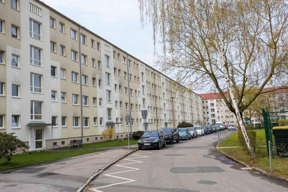 Wohnhaus Julius-Fucik-Straße 27 bis 57 auf dem Sonnenstein: Noch in diesem Jahr will die WGP damit beginnen, die Fassade zu renovieren.